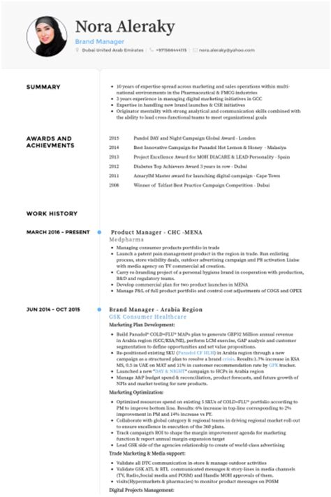 brand manager resume sles visualcv resume sles