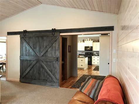 sliding barn door entertainment center sliding doors grain designs