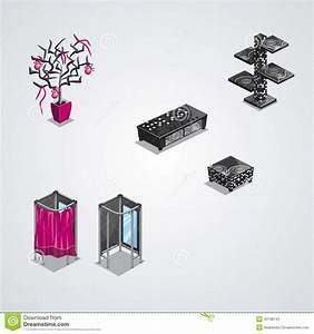 Collection Of Modern Furniture Stock Vector