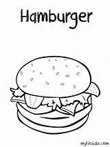 Coloring Pages Hamburger Sheets Printable Colouring Cheeseburger Hamburgers Weather Burger Sheet Fries Template Burgers Printables Preschool Crispy A4 Draw Worksheets sketch template