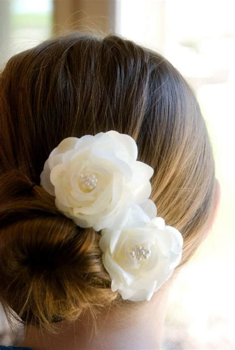 vintage wedding hair flowers bridal hair piece ivory