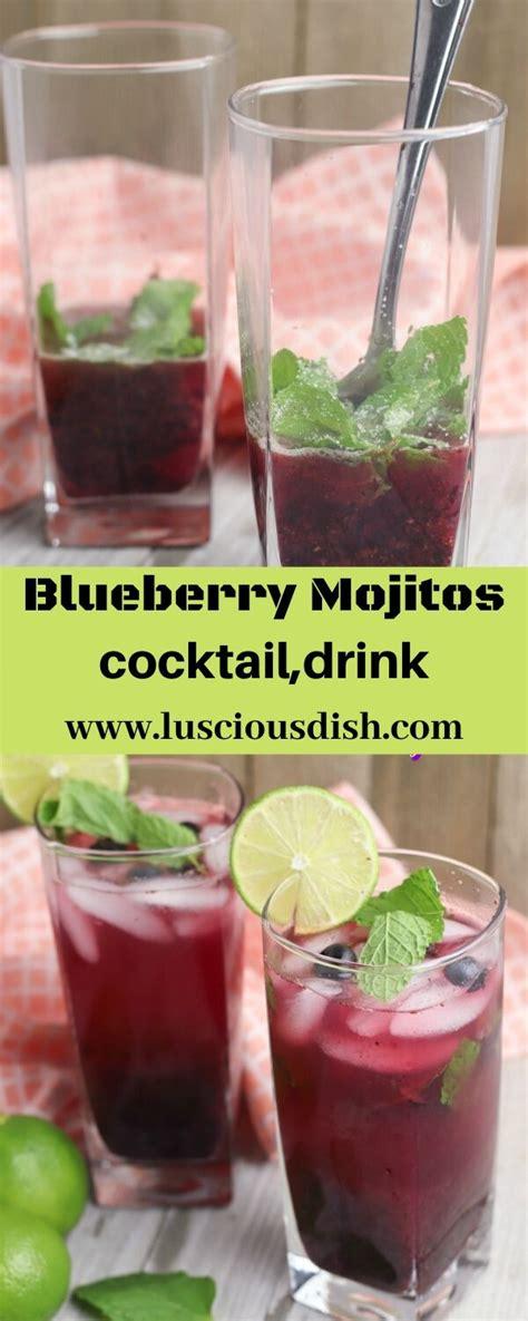 blueberry mojitos optimisrecipes