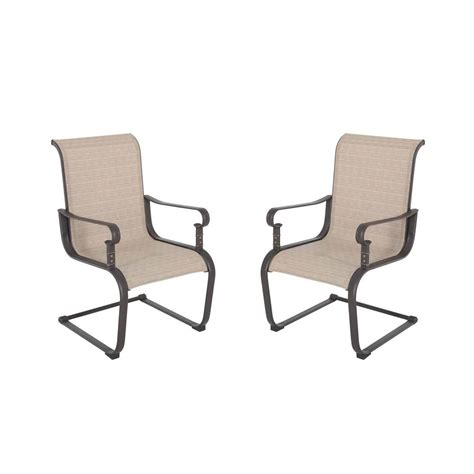 hton bay belleville patio dining chairs 2 pack