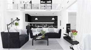 30 black white living rooms that work their monochrome magic With black and white living room