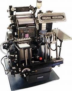 original heidelberg windmill electric printing With letter machine press