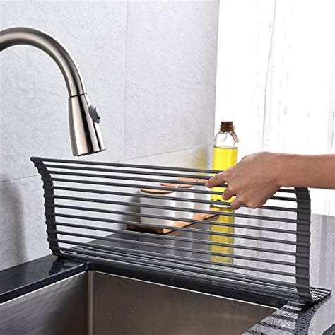 kitchen sink with drying rack vccucine modern large roll up dish drying rack 8573