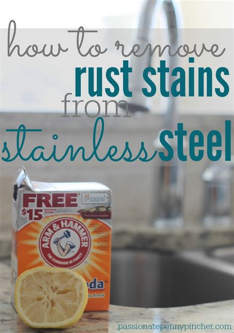 remove rust stains  stainless steel freshen