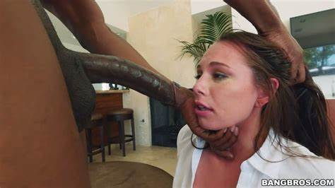 Negress Slim Caucasian Gags And Chokes Black Hoe Aidra Fox Can'T Stop Squirting On A Small Ebony Pole