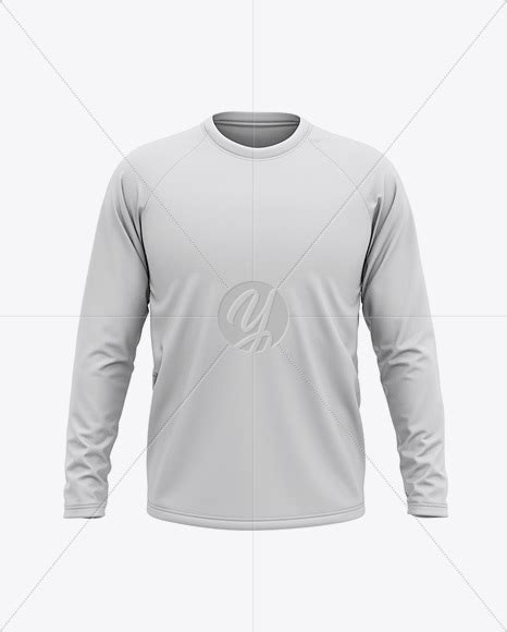 You may thoroughly plan your presentation and choose the best angle: Men's Raglan Long Sleeve T-Shirt Mockup - Front View in ...