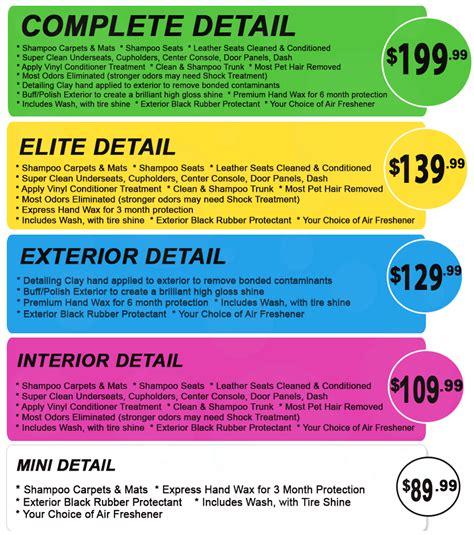 car wash service car interior detailing cost