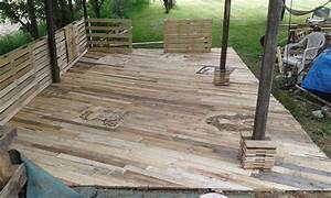pallet deck diy patio furniture With pallet patio floor