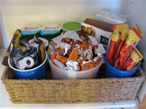 Organizing a Snack Basket