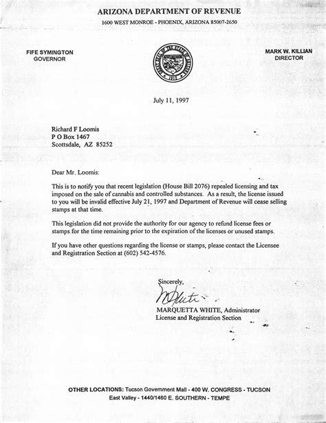 Marijuana Dealer Resume by Arizona Marijuana Tax Sts La Imc