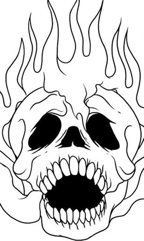 How To Draw Skull On Fire for Android - ClipArt Best
