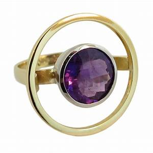 18ct & 9ct Yellow & White Gold Amethyst Ring - Cameron ...