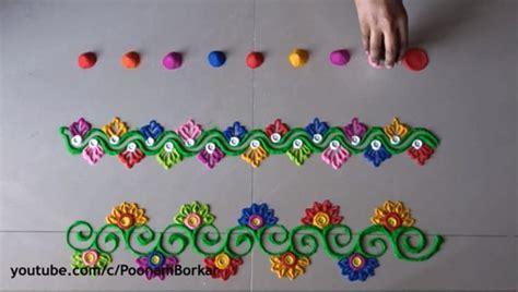 diwali special easy border rangoli designs simple craft