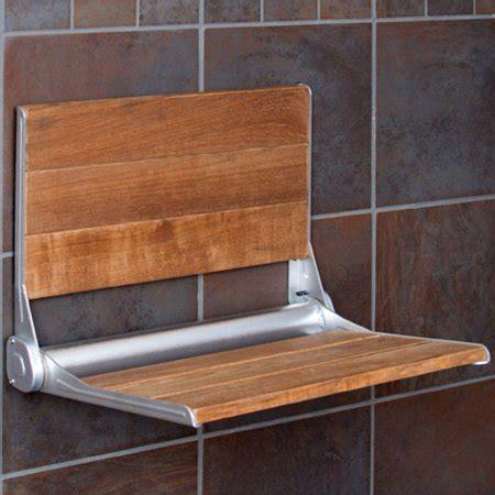 Flip Shower Bench by Clevr Modern 100 Burmese Teak Wood Folding Shower Bench