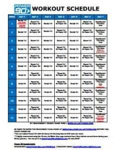 Power 90 Workout Schedule - ZILLAFITNESS Power 90