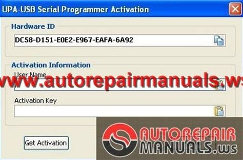 upa usb v1 3 activation code auto repair manual forum heavy equipment forums