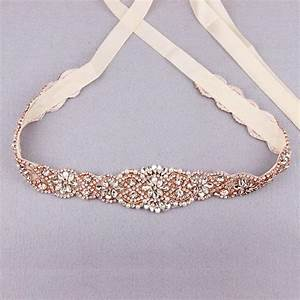 gorgeous wedding dress sashes and belts With gold belt for wedding dress