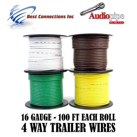 Trailer Wire Light Cable For Harness Way Cord Gauge
