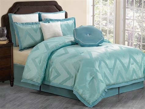 behrakis 8pc comforter set teal king home woot