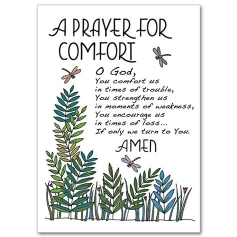 a prayer of comfort a prayer for comfort praying for you card sympathy