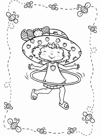 Strawberry Pages Hula Hoop Coloring Shortcake Lola