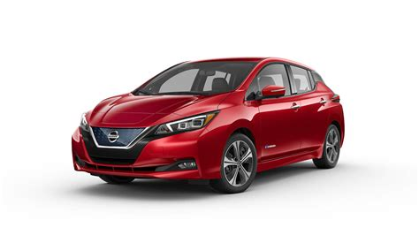 nissan leaf red color white background widescreen hd