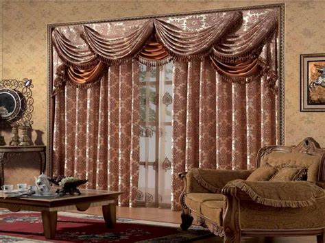 Swag Curtains For Living Room by Living Room Luxury Living Room Window Treatment Ideas