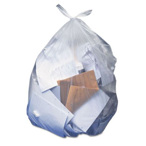 gallon garbage bags clear  mil  bags