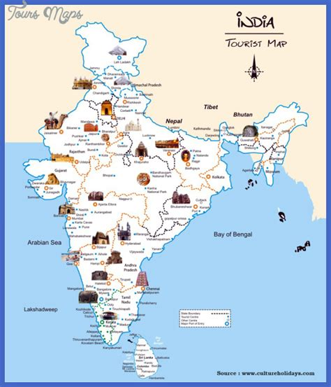 India Map Tourist Attractions Toursmapscom