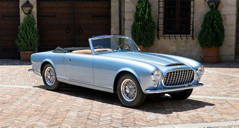 Only ferrari and pininfarina will ever know how much of the 612 was ferrari's and how much pininfarina's. Pictures auto Ferrari 1952 212 Inter Cabriolet Light Blue antique