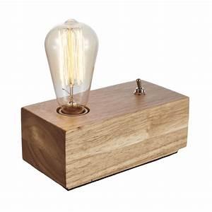 Lampe De Chevet Vintage : lampe de chevet en bois lampe de table en bois texas ~ Melissatoandfro.com Idées de Décoration