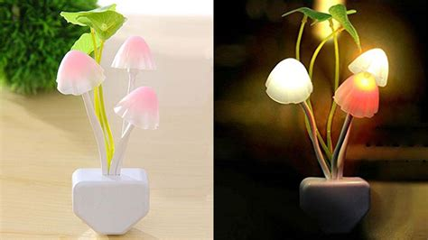 led night light mushroom lamp cool   buy