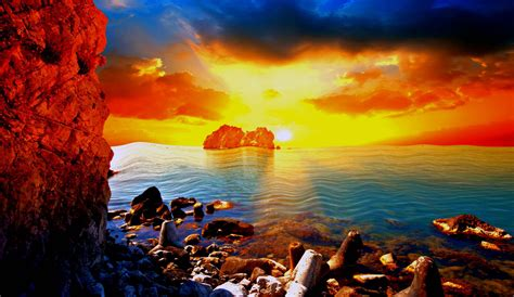 Gay Pride Desktop Background Golden Sunset On The Beach Images Hd Wallpapers Morewallpapers Com