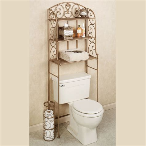 Aldabella Satin Gold Bathroom Space Saver
