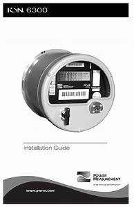 Power Measurement Ion6300 Utility Meter User Manual Ion