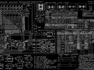 Diagram Blueprint Bw Russian Schematic Wallpapers Desktop