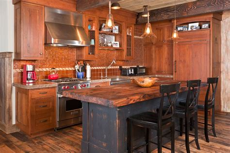 rustic kitchen island rustic kitchen islands kitchen rustic with mesquite counter top hidden refrigerator mesquite