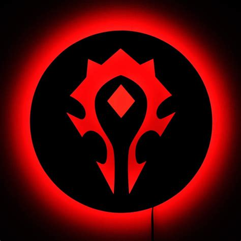 horde wow warcraft sign wall lighted etsy led signs classic gamer cavalier mobility intervention divine change vs leveling decor neon