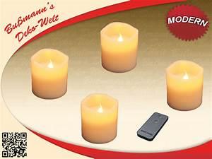 Led Kerzen Für Aussen Mit Fernbedienung : 4 led kerzen mit fernbedienung echtwachskerzen kerze ebay ~ Orissabook.com Haus und Dekorationen
