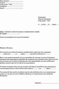 Modele De Resiliation Assurance : modele lettre assurance maladie ~ Gottalentnigeria.com Avis de Voitures