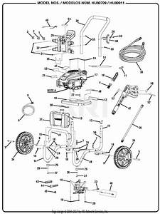 Homelite Hu80709 Pressure Washer Parts Diagram For General