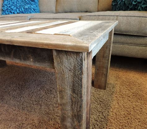 """Shop for barnwood coffee tables at best buy. 24-in X 48-in X 18-in """"Bretton"""" style Reclaimed Wood Rustic Barnwood Coffee Table ⋆ AllBarnWood"""