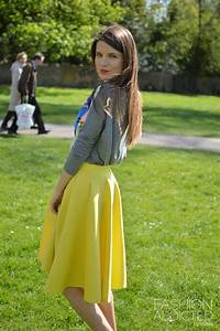 Yellow Midi Skater Skirt - Dress Ala