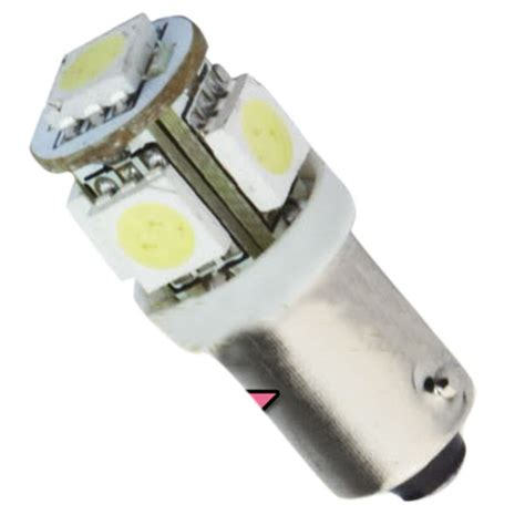 2 t11 ba9s white 5050 smd 5 led car light bulb l 12v