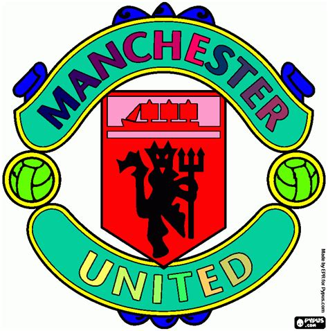 manchester united colors utd coloring page printable utd