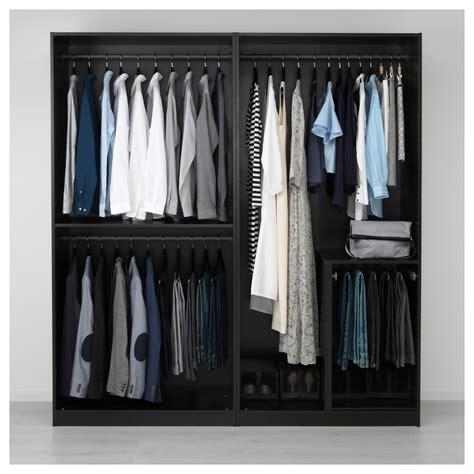 Black Brown Wardrobe Closet by Ikea Pax Wardrobe Black Brown Undredal Black In 2019