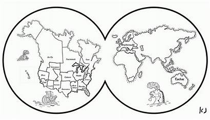 Coloring Map Pages Earth Drawing Sheet Blank